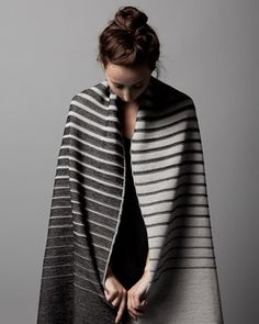 gorgeous Gradient knit scarf (or shawl) from String Theory <3