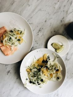 Sous vide salmon and fennel salad