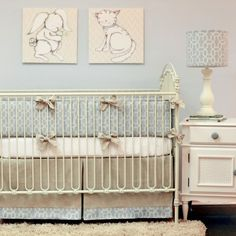 Luxury Baby Nursery - Doodlefish Kids Peaceful Crib Bedding