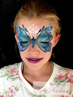 Cute Kids, Carnival, Butterfly, Face, Norway, Painting, Ideas, Butterflies, Painting Art