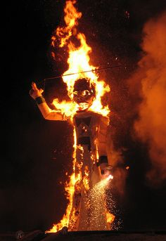 Is that Burning Man? NOPE! It's ZOZOBRA in Santa Fe New Mexico!!! AKA old man gloom,