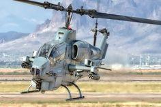 "A Bell AH-1W SuperCobra, from Marine Light Attack Helicopter Training Squadron 303 (HMLAT-303) ""Atlas,"" arriving at Phoenix-Mesa Gateway Airport on Monday afternoon.  www.ottosenphotography.com | © Matt Ottosen"