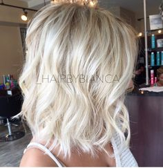 Bleach blonde short hair
