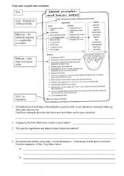 English worksheet: Procedure worksheet - recipe