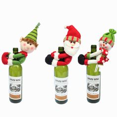 Christmas Style Wine Bottle Decorations //Price: $9.95 & FREE Shipping //     }