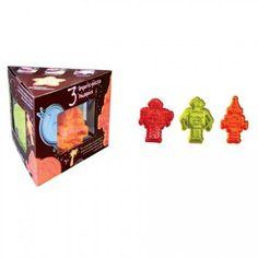 3 emporte-pièces poussoirs robots  - Annikids