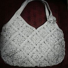 Bolsa em croche #bag #crochet #ilovethis #silver