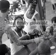 Real family grows old.