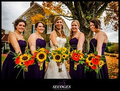 The girls bouquets.