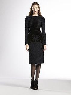 Gucci - Brocade and Velvet Dress