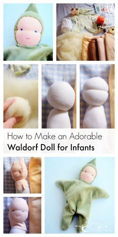 Waldorf dolls for infants are a favorite first toy that feel wonderful to make and give. Make a Waldorf doll with pure wool and cotton.