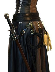 Ravenswood Leather Clothing for Renaissance Garb, Cosplay Costumes and Daily Fashion - Steampunk utility skirt with a warrior`s chatelaine! Steampunk project decor and style tips www. Moda Steampunk, Costume Steampunk, Style Steampunk, Steampunk Fashion, Steampunk Belt, Steampunk Clothing, Steampunk Sword, Steam Punk, Daily Fashion