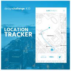 Location Tracker Design -  Mobile app design in 100 day DAILY UI CHALLENGE