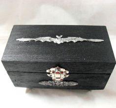 Gothic Home Decor  Gothic Trinket Box  Bat Box by NacreousAlchemy, $20.00