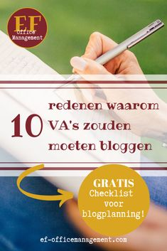 10 redenen waarom VA's zouden moeten bloggen | EF Office Management Content Marketing, Office Management, Om, Blogging, Inbound Marketing