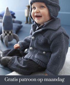 Gratis patroon op maandag - Breipatroon jasje. Ontvang ieder maandag het gratis patroon en een leuke aanbieding van het garen.