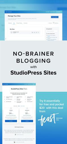 No Brainer Blogging with StudioPress Sites.  Managed hosting + Genesis framework + child themes.  Shut the front door!