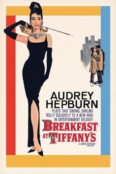 (1961) ~ Audrey Hepburn, George Peppard, Patricia Neal. Dir: Blake Edwards. IMDB: 7.8  ____________________ https://en.wikipedia.org/wiki/Breakfast_at_Tiffany%27s_%28film%29 www.rottentomatoes.com/m/breakfast_at_tiffanys/ www.metacritic.com/movie/breakfast-at-tiffanys www.tcm.com/tcmdb/title/21936/Breakfast-at-Tiffany-s/ www.tcm.com/tcmdb/title/21936/Breakfast-at-Tiffany-s/articles.html www.allmovie.com/movie/breakfast-at-tiffanys-v6998 http://www.rogerebert.com