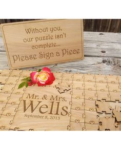 Destination Wedding Guest Book Alternative Ideas Wedding Puzzle by Northern Owl… Perfect Wedding, Our Wedding, Dream Wedding, Wedding Tips, Wedding Guest List, Wedding Album, Wedding Book, Budget Wedding, Wedding Couples