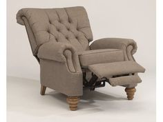 Vintage styling with generous proportions. Equestrian displays a button-tufted back and tulip legs that give it a vintage feel. The generous rolled arm is echoed in the rolled back cushion, and the plush seat cushion promises tremendous reclining comfort.