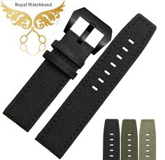 Nylon Watch Strap 22mm New Mens Black High Quality Nylon Genuine Leather Watch Band Strap Bracelets Fits Pilot-in Watchbands from Watches on Aliexpress.com | Alibaba Group