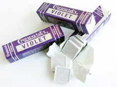 Choward's Violet Candy,ialways loved the taste and smell of these candies i was addicted to these when i was a teenager .so happy i can still find them! Retro Candy, Vintage Candy, 90s Candy, Charleston Chew, Old School Candy, Candy Cigarettes, Candy Buttons, Candied Fruit, Favorite Candy