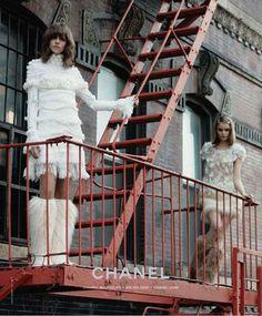 client: chanel   source: chanel.com   published: fall/winter 2010  Karl Lagerfeld - Photographer  Abbey Lee Kershaw - Model  Brad Kroenig - Model  Freja Beha Erichsen - Model