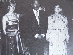 Diana with President Sadat & his wife in Egypt on Honeymoon