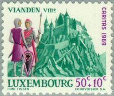 Sello: Castle Vianden (Luxemburgo) (Castles) Mi:LU 798,Yt:LU 748