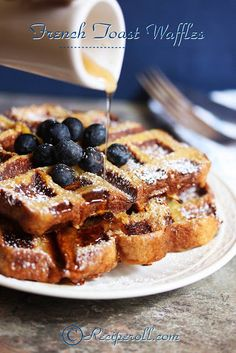 French Toast Waffles | Waffles Made With Bread ~ Sankeerthanam (Reciperoll.com)|Recipes | Cake Decorations | Cup Cakes |Food Photos