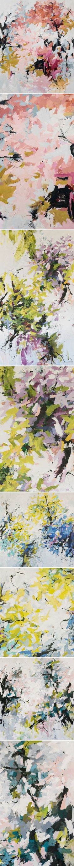 large-scale floral abstracts carlos ramirez