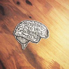 Nothing to do nowhere to go #drawing #draw #illustration #illustrator #flashtattoo #tattoo #sketch #print #iblackwork #darkartists #hydeomega #joeyramones #theramones #punk #music #ink #brain #black #font #letter