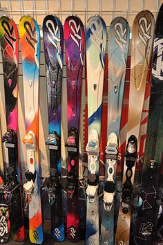 a sneak peak at next years k2 women's all mountain skis