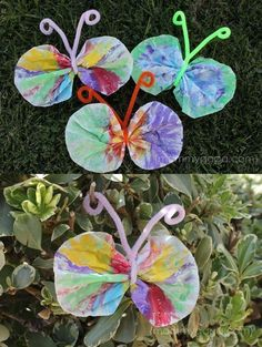 Spring crafts for kids – coffee filter butterfly craft – honey + lime. 0 · spring crafts for kids: coffee filter Preschool Projects, Daycare Crafts, Classroom Crafts, Toddler Crafts, Preschool Crafts, Kids Crafts, Spring Crafts For Kids, Spring Projects, Summer Crafts