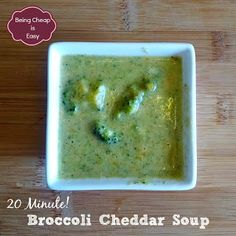 Being Cheap is Easy: Simple Soups: Broccoli Cheddar