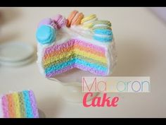 Rainbow Macaron Cake Tutorial for Fimo or Polymer Clay
