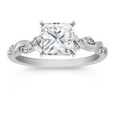 way to accent the already elegant princess cut!