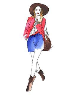 Anna Granat Fashion Illustration; #fashion #illustration #fashionillustration #aquarelle #ink #art #annagranat