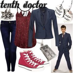 """""""Tenth Doctor- Blue Suit"""" by fandom-wardrobes on Polyvore"""