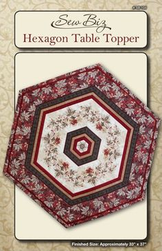 Free! Stella Table Topper Pattern | Hexagon Table Topper