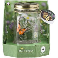 Electronic Butterfly in a Jar - Simply tap the jar to activate the butterfly's realistic action. Ambient sound may also make it flutter! - http://geekarmory.com/electronic-butterfly-in-a-jar/