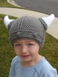 This is a fun, cute viking hat. It is soft and warm. I can make ear flaps on it if it is requested. It can be made in several different sizes. I