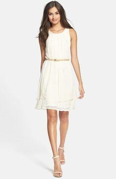 Comfortable yet chic- Jessica Simpson Laser Cut Eyelet Trim Dress available at #Nordstrom