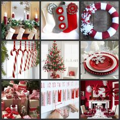 A way to diversify my bad and old red and white Christmas decor- just add gray!!