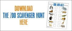 Over The Big Moon Kids Snack Mix with Zoo Scavenger Hunt