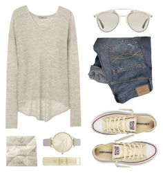 """""""The world is in the palm of my hand"""" by felytery ❤ liked on Polyvore featuring Helmut Lang, Hush, Olivia Burton, Aveda, Christian Dior, Abercrombie & Fitch and Converse"""