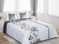 Bielo-sivý prehoz Gali je dostupný v troch rozmeroch: 170x210, 220x240 alebo 230x260 cm.