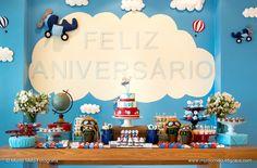 Decoração - Festa de Aniversário Infantil Avião
