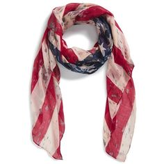 Junior BP. 'American Flag' Oblong Scarf ($8.98) ❤ liked on Polyvore