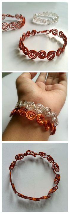 Swirly Wire Bracelet #jewelry #wire_wrapping